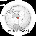 Outline Map of Howqua, rectangular outline