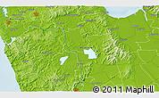 Physical 3D Map of Waiuku