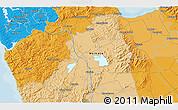 Political 3D Map of Waiuku