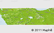 """Physical Panoramic Map of the area around 37°23'54""""S,175°10'30""""E"""