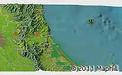 Satellite 3D Map of Paeroa