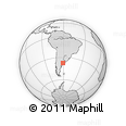 Outline Map of Laprida, Buenos Aires, rectangular outline
