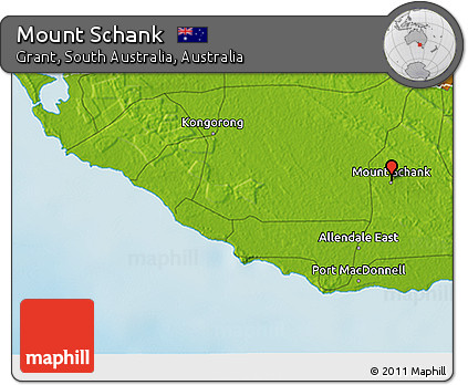 3d Map Of South Australia.Free Physical 3d Map Of Mount Schank