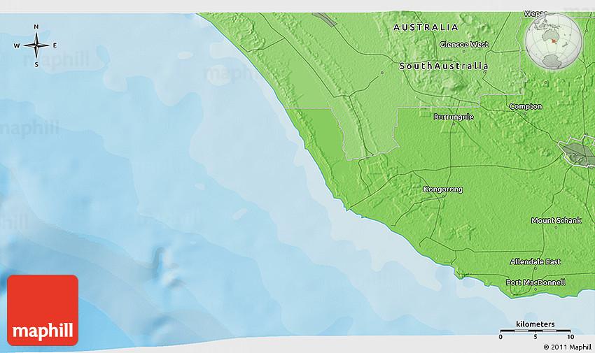 3d Map Of South Australia.Political 3d Map Of Mount Schank