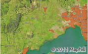 "Satellite Map of the area around 37°51'10""S,144°34'29""E"