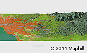 "Satellite Panoramic Map of the area around 37° 51' 10"" S, 145° 25' 30"" E"