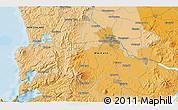 Political 3D Map of Raglan