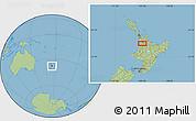 "Savanna Style Location Map of the area around 37°51'10""S,175°10'30""E"