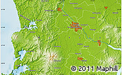 """Physical Map of the area around 37°51'10""""S,175°10'30""""E"""