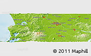 """Physical Panoramic Map of the area around 37°51'10""""S,175°10'30""""E"""