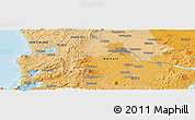 """Political Panoramic Map of the area around 37°51'10""""S,175°10'30""""E"""