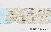 """Shaded Relief Panoramic Map of the area around 37°51'10""""S,175°10'30""""E"""