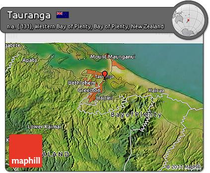 Free Satellite 3D Map of Tauranga