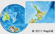 Physical Location Map of Tauranga