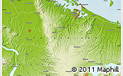 """Physical Map of the area around 37°51'10""""S,176°1'30""""E"""