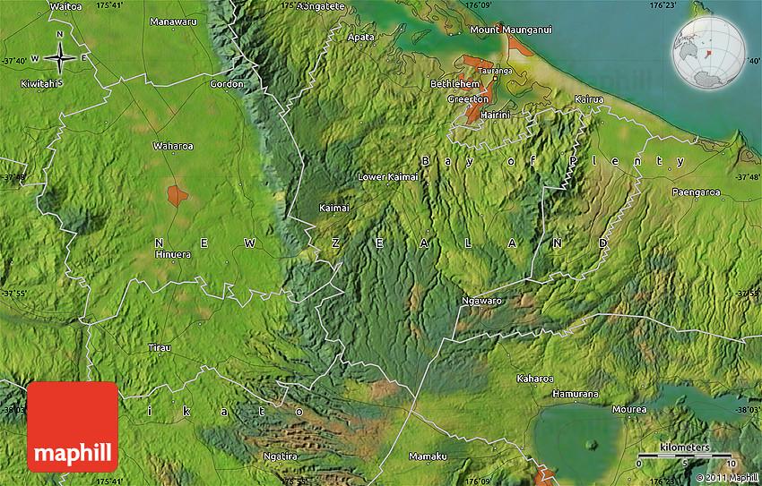 Satellite Map of Tauranga
