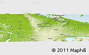 Physical Panoramic Map of Tauranga