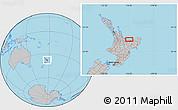 Gray Location Map of Edgecumbe