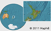 Satellite Location Map of Edgecumbe