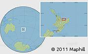 Savanna Style Location Map of Edgecumbe
