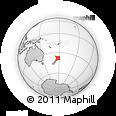 Outline Map of Pakihiroa, rectangular outline