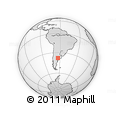 Outline Map of Cotita, rectangular outline