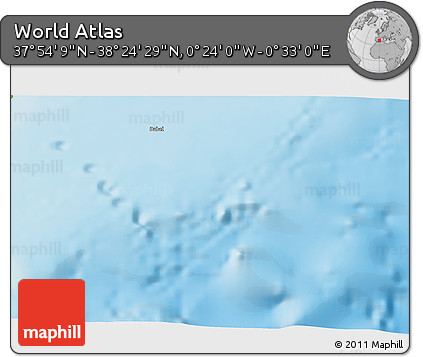"""Physical 3D Map of the Area around 38°9'19""""N,0°4'30""""E"""