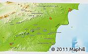 Physical 3D Map of El Castellar