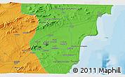 Political 3D Map of Murcia