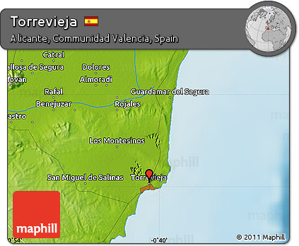 Free Physical Map Of Torrevieja
