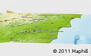 Physical Panoramic Map of El Castellar