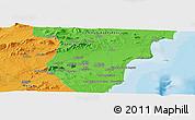 Political Panoramic Map of Murcia