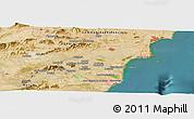 Satellite Panoramic Map of Murcia