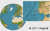 """Satellite Location Map of the area around 38°9'19""""N,10°7'30""""W"""