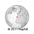 """Outline Map of the Area around 38° 9' 19"""" N, 10° 7' 30"""" W, rectangular outline"""