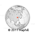"""Outline Map of the Area around 38° 9' 19"""" N, 113° 7' 30"""" E, rectangular outline"""