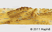 """Physical Panoramic Map of the area around 38°9'19""""N,113°7'30""""E"""
