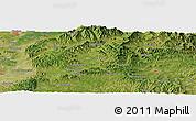 "Satellite Panoramic Map of the area around 38°9'19""N,113°7'30""E"