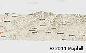 """Shaded Relief Panoramic Map of the area around 38°9'19""""N,113°7'30""""E"""