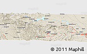"Shaded Relief Panoramic Map of the area around 38° 9' 19"" N, 113° 58' 29"" E"