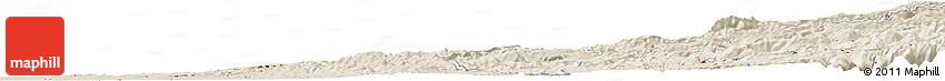 Shaded Relief Horizon Map of Clarsona
