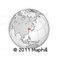 """Outline Map of the Area around 38° 9' 19"""" N, 121° 37' 30"""" E, rectangular outline"""