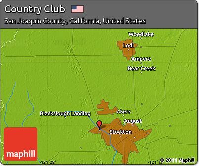 Physical Map of Country Club