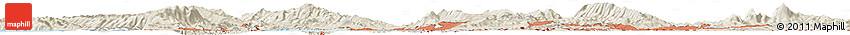 Shaded Relief Horizon Map of Denverton