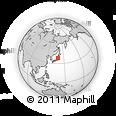 Outline Map of Shibata, rectangular outline