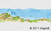 Physical Panoramic Map of Palermo