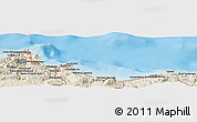 Shaded Relief Panoramic Map of Palermo