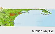 Physical Panoramic Map of Sendai