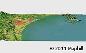 Satellite Panoramic Map of Sendai