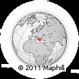 Outline Map of Pátrai, rectangular outline